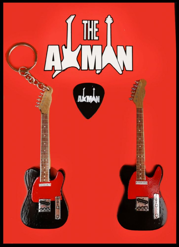 (Dr. Feelgood) Wilko Johnson: Telecaster- Keyring & Magnet Variation